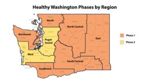 Healthy Washington Phases by Region