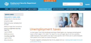 image of unemployment taxes landing page