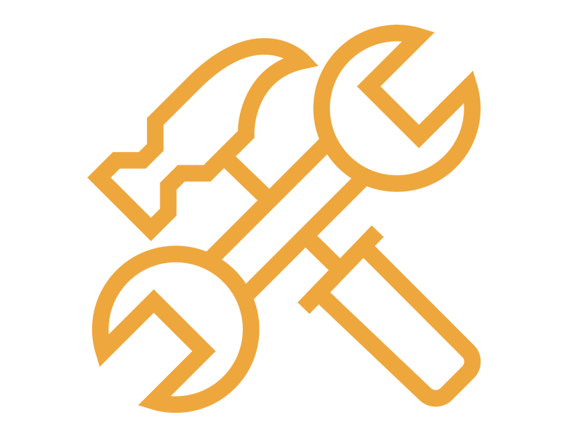 job listing tools orange icon